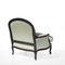 fauteuil de style Louis XV / en tissu / en cuir / en chêne