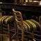 tabouret de bar contemporain / en hêtre / en cuir / en tissu
