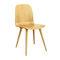 chaise design scandinave / avec accoudoirs / tapissée / en tissu