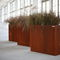jardinière en acier COR-TEN® / rectangulaire / contemporaine / pour espace public