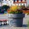 jardinière en polyéthylène / ronde / contemporaine / pour espace public