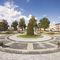 jardinière en acier galvanisé / ronde / contemporaine / pour espace public