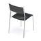 chaise visiteur design Bauhaus / empilable / tapissée / avec accoudoirs
