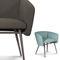 Chaise de salle à manger / contemporaine / en hêtre / en tissu BALU' MET by Emilio Nanni Traba'