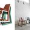 Chaise contemporaine / en tissu / en hêtre / en cuir ROXANNE by Emilio Nanni Traba'