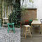 Tabouret de bar contemporain / en hêtre / en tissu / en simili cuir NHINO by Emilio Nanni Traba'
