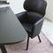 fauteuil contemporain / en tissu / en hêtre / en simili cuir