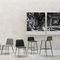 Chaise de bar contemporaine / tapissée / en tissu / en cuir BARDOT MET by Emilio Nanni Traba'
