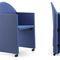 chaise visiteur contemporaine / avec accoudoirs / tapissée / à roulettes