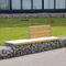 Banc public / de jardin / contemporain / en bois massif MOBILIER EVOL 1/2 DOSSIER ID GABION - L'AGENCE URBAINE