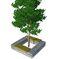 Grille d'arbre en acier / en acier galvanisé / en pierre / carrée ENTOURAGE ARBRE GABION ID GABION - L'AGENCE URBAINE