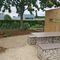 Table de pique-nique design original / en acier galvanisé / en pierre / en HPL COMPACT ID GABION - L'AGENCE URBAINE