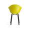 chaise contemporaine / avec accoudoirs / en bois / en métal