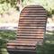 chaise contemporaine / en pin / en acier à revêtement par poudre / d'extérieur