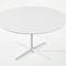 table à manger contemporaine / en MDF / en aluminium / ronde