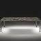 table à manger contemporaine / en bois teinté / en métal / en marbre