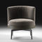 fauteuil contemporain / en tissu / en cuir / en bois