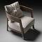 fauteuil contemporain / en bois massif / en tissu / en cuir