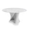 table contemporaine / en marbre / en CristalPlant® / ronde
