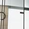 porte vitrée / d'intérieur / coulissante / en aluminium