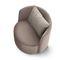 fauteuil contemporain / en tissu / en cuir