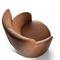 Fauteuil contemporain / en cuir / bergère CLAIRE by Lo Scalzo Moscheri Ditre Italia