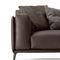 canapé contemporain / en cuir / en simili cuir / en fonte d'aluminium