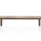 table contemporaine / en teck / rectangulaire / de jardin