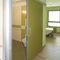 porte d'intérieur / coulissante / en bois / en aluminium