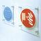 plaque signalétique murale / en verre / pour sanitaire