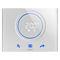 thermostat programmable / encastrable au mur / pour chauffage / pour climatisation