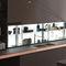 étagère contemporaine / en verre / pour cuisine / éclairéeAIR LOGICA SYSTEMVALCUCINE