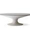 table à manger contemporaine / en ciment / ovale / grise