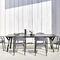 chaise contemporaine / en aluminium / contract / d'extérieur
