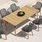 chaise de jardin contemporaine / avec accoudoirs / tapissée / en aluminium