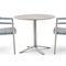 fauteuil contemporain / en aluminium / en PVC / avec coussin amovible