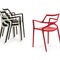 Chaise contemporaine / empilable / avec accoudoirs / en polypropylène DELTA by Jorge Pensi  VONDOM