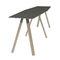 table mange-debout contemporaine / en bois / rectangulaire / professionnelle