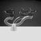 vasque sur pied / ronde / en céramique / contemporaine