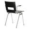 chaise visiteur contemporaine / avec accoudoirs / tapissée / empilable
