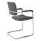 Chaise visiteur contemporaine / empilable / tapissée / avec accoudoirs SKID by Andreas Ostwald BRUNE Sitzmöbel GmbH