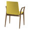 chaise visiteur contemporaine / avec accoudoirs / tapissée / en bois