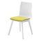 Chaise visiteur contemporaine / tapissée / en plastique / en bois FLUX by Uwe Sommerlade BRUNE Sitzmöbel GmbH
