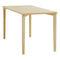 Table de travail contemporaine / en hêtre / rectangulaire / pour établissement public 4190 AFTERNOON BRUNE Sitzmöbel GmbH