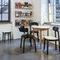 chaise de restaurant contemporaine / tapissée / en tissu / en contreplaqué moulé