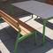 table de pique-nique contemporaine / en bois / en acier galvanisé / en acier inoxydable