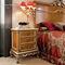 table de chevet de style / en bois / rectangulaire / avec tiroir