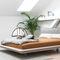 lit double / contemporain / avec tête de lit tapissée / en tissuYOMA by KaschkaschZEITRAUM