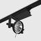 éclairage sur rail à LED / rond / en aluminium / en fonte d'aluminium