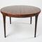 Table à manger design scandinave / en bois de rose / ronde / ovale 1964-69 by I.K. Larsen  paere dansk
